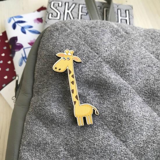 "Значок из дерева ""Жирафка"""