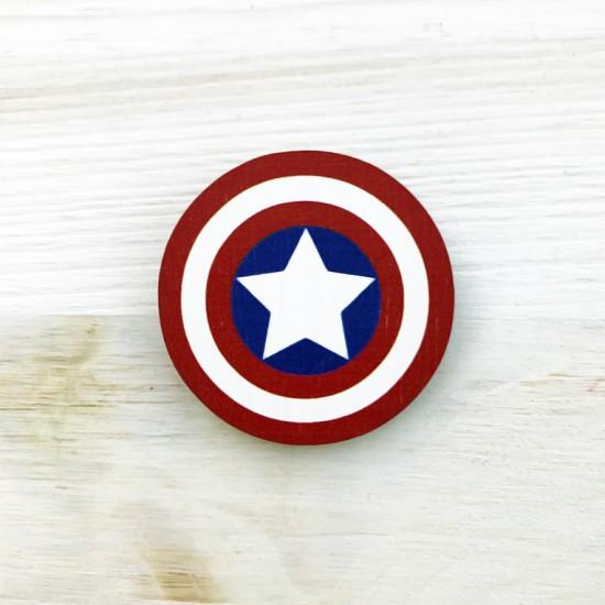 """Значок из дерева """"Captain America"""""""