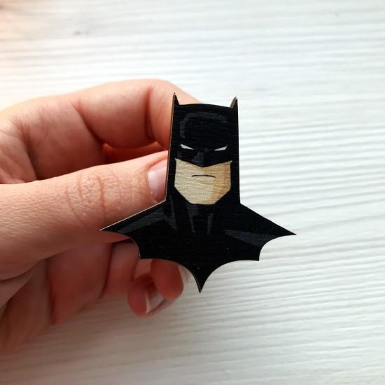 """Значок из дерева """"Batman"""""""