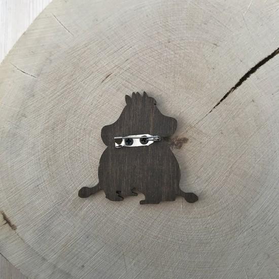 """Значок из дерева """"Влюбленные муми-тролли"""""""