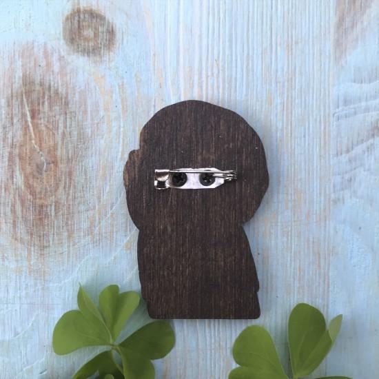 """Значок из дерева """"Морти Смит"""""""