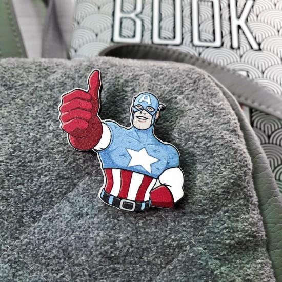 "Значок из дерева ""Капитан Америка 2"""