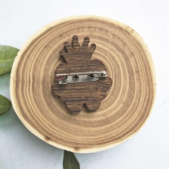 """Значок из дерева """"Зубик"""""""