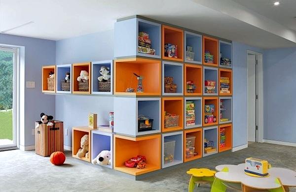 Дизайн стеллажей для детской комнаты